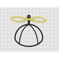 Beanie Copter Helpcopter 4 Layer Applique Embroidery Design in 3x3 4x4 and 5x5 Sizes
