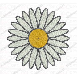 Daisy Flower Embroidery Design in 2x2 3x3 4x4 and 5x5 Sizes
