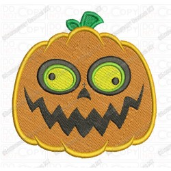 Jackolantern 2 Pumpkin Halloween Full Stitch Embroidery Design in 3x3 4x4 and 5x7 Sizes
