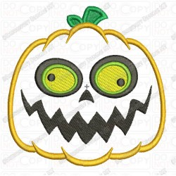 Jackolantern 2 Pumpkin Halloween Applique Embroidery Design in 3x3 4x4 and 5x7 Sizes