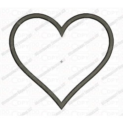 Heart Applique Valentine Embroidery Design in 2x2 3x3 4x4 and 5x7 Sizes