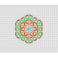 Geometric Pattern Hexagon Embroidery Design in 3x3 4x4 5x5 and 6x6 Sizes