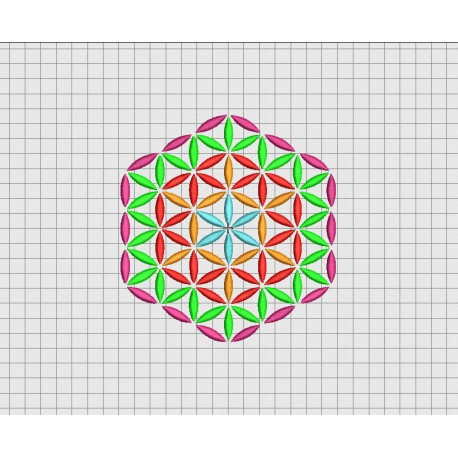 Geometric Pattern Hexagon Embroidery Design In 3x3 4x4 5x5 And 6x6