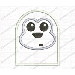 Animal Monkey Seal Bear Head Applique Embroidery Design in 3x3 4x4 and 5x7 Sizes