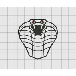 Snake Head Applique Embroidery Design File in Sizes 3x3 4x4 5x5 and 6x6