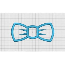 Bow Tie 1 Layer Applique Embroidery Design in 3x3 4x4 5x5 and 6x6 Sizes