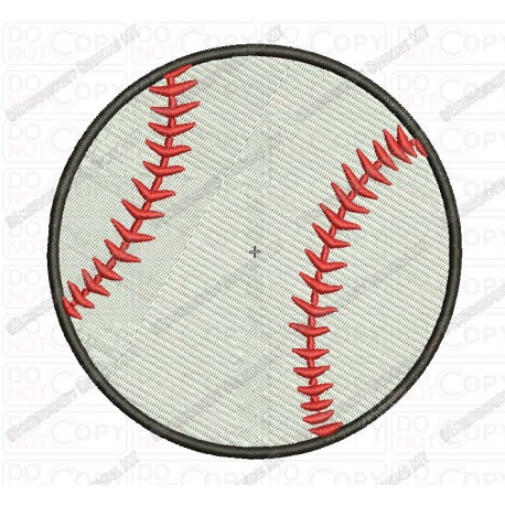 Baseball Embroidery Design In 1x1 2x2 3x3 4x4 And 5x7 Sizes Pixels