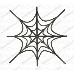 Basic Spider Web Embroidery Design in 1x1 2x2 3x3 4x4 and 5x7 Sizes