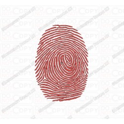 Fingerprint Embroidery Design in 2x2 3x3 4x4 and 5x5 Sizes