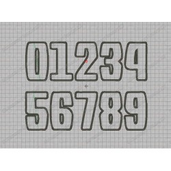 Bold Birthday Number Set Gravity Applique Machine Embroidery Design 0,1,2,3,4,5,6,7,8, AND 9 in 3x3 4x4 AND 5x5 Sizes