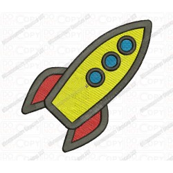 Space Shuttle Embroidery Design in  3x3 4x4 and 5x7 Sizes