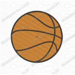 Basic Basketball Full Stitch Embroidery Design in 1x1 2x2 3x3 4x4 5x5 and 6x6 Sizes