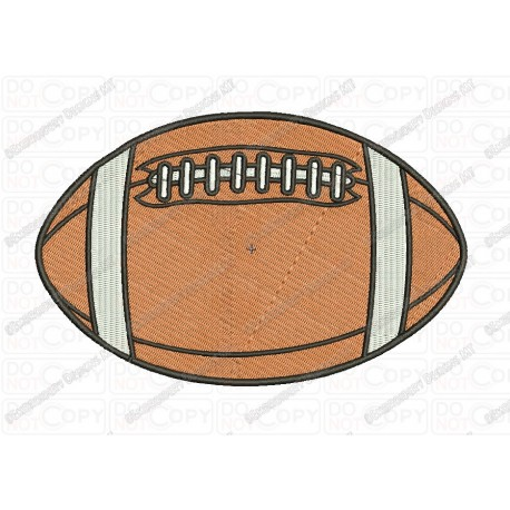 Basic American Football Embroidery Design In 2x2 3x3 4x4 And 5x7