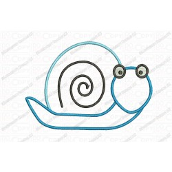 Snail 2 Layer Applique Embroidery Design in 3x3 4x4 and 5x7 Sizes