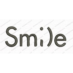 Smile Smi)e Saying Embroidery Design in 2x2 3x3 4x4 and 5x7 Sizes