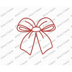 Bow Christmas Applique Embroidery Design in 3x3 4x4 and 5x5 Sizes