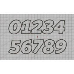 Bold Birthday Number Set Applique Machine Embroidery Design 0,1,2,3,4,5,6,7,8, AND 9 in 3x3 4x4 5x5 AND 6x6 Sizes