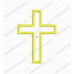 Christian Cross Jesus Christianity Applique Embroidery Design in 2x2 3x3 4x4 and 5x7 Sizes