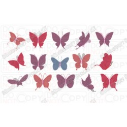 Pretty Butterflies Full Stitch Embroidery Design (1-15) in mini 2x2 3x3 4x4 and 5x5 Sizes