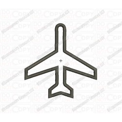 Airplane Airliner Jet Applique Embroidery Design in 3x3 4x4 and 5x7 Sizes
