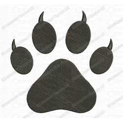 Cat Paw Embroidery Design in  2x2 3x3 4x4 and 5x5 Sizes