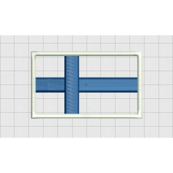 Finland Country Flag Applique Embroidery Design in 3x3 4x4 and 5x7 Sizes