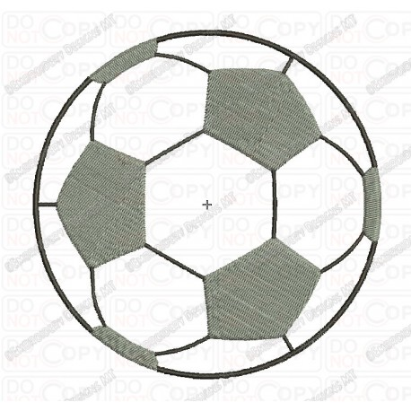 Soccer Football Applique Embroidery Design In 3x3 4x4 5x5 Sizes