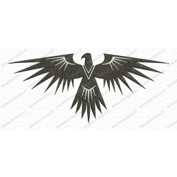 Bird White Accent Phoenix Embroidery Design in 3x3 4x4 and 5x7 Sizes