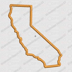 California State Applique Embroidery Design in 4x4 and 5x7 Sizes