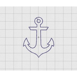 "Anchor Felt Embroidery Design in .75"" 1"" 1.5"" and 2"" Sizes"