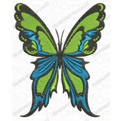 Colorful Butterfly Full Stitch Embroidery Design in 4x4 and 5x7 Sizes