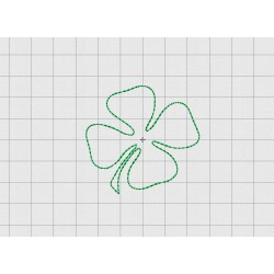 "4 Leaf Clover Feltie Mini Embroidery Design in .5"" .75"" 1"" 1.5"" and 2"" Sizes"