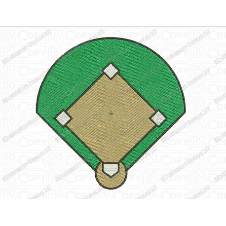 Baseball Diamond Field Embroidery Design In 3x3 4x4 And 5x7 Sizes