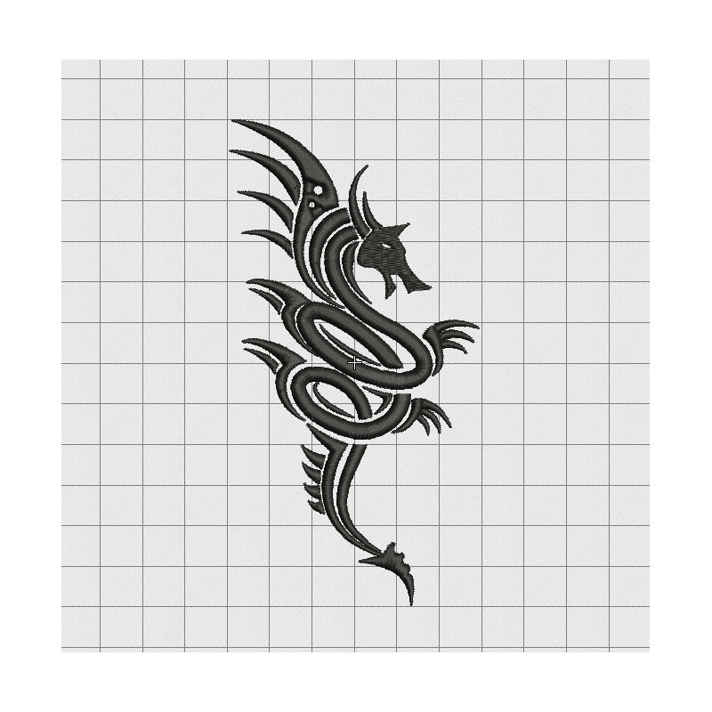 tribal style embroidery design in 3x3 4x4