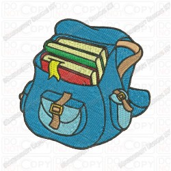 Backpack Back to School Embroidery Design in 2x2 3x3 4x4 and 5x7 Sizes