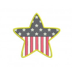 Star Flag Embroidery Design in 3x3 4x4 and 5x7 Sizes
