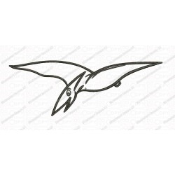 Pterodactyl Bird Dinosaur Applique Embroidery Design in 3x3 4x4 and 5x7 Sizes