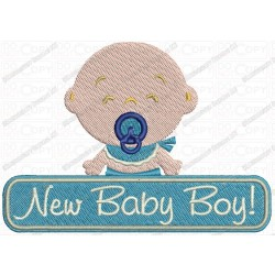 New Baby Boy Embroidery Design in 4x4 and 5x7 Sizes