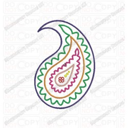 Paisley Floral Pattern 2 Embroidery Design in 2x2 3x3 4x4 and 5x5