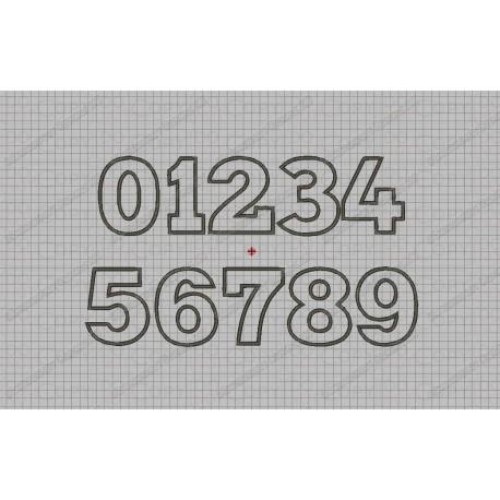 Studio Type Birthday Number Set Applique Machine Embroidery Design 0