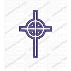Celtic Cross Applique Embroidery Design in 3x3 4x4 and 5x7 Sizes