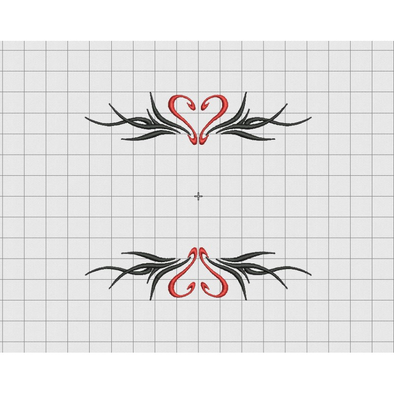 tribal heart name border frame embroidery design in 3x3 4x4 and 5x7 sizes