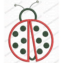 Ladybug Applique Embroidery Design in 4x4 and 5x7 Sizes