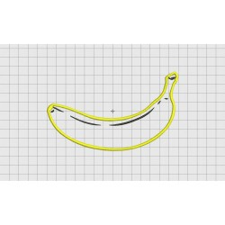 Banana Applique Embroidery Design in 3x3 4x4 and 5x7 Sizes
