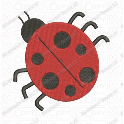Mini Ladybug Embroidery Design in 1x1 2x2 3x3 4x4 and 5x7 Sizes