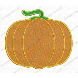 Basic Pumpkin Halloween Full Stitch Embroidery Design in 2x2 3x3 4x4 and 5x7 Sizes