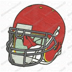 Football Helmet Front Angle View Embroidery Design in 3x3 4x4 and 5x7 Sizes