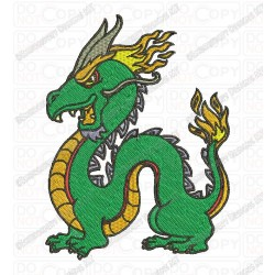 Chinese Dragon Embroidery Design in 3x3 4x4 and 5x7 Sizes