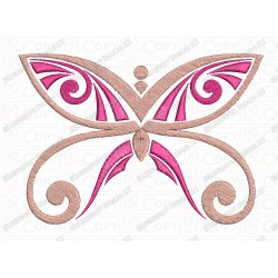 Butterfly Pink and Purple Embroidery Design in 3x3 4x4 and 5x7 Sizes