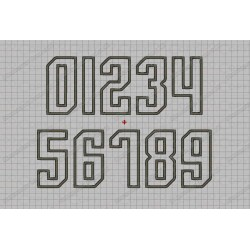 Sharp Angle Birthday Number Set Applique Machine Embroidery Design 0,1,2,3,4,5,6,7,8, AND 9 in 3x3 4x4 AND 5x5 Sizes